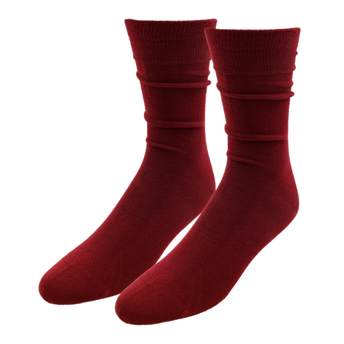Bordeauxrote Herrensocken - E.L. Cravatte (1)