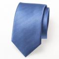 schmale Seidenkrawatte blau